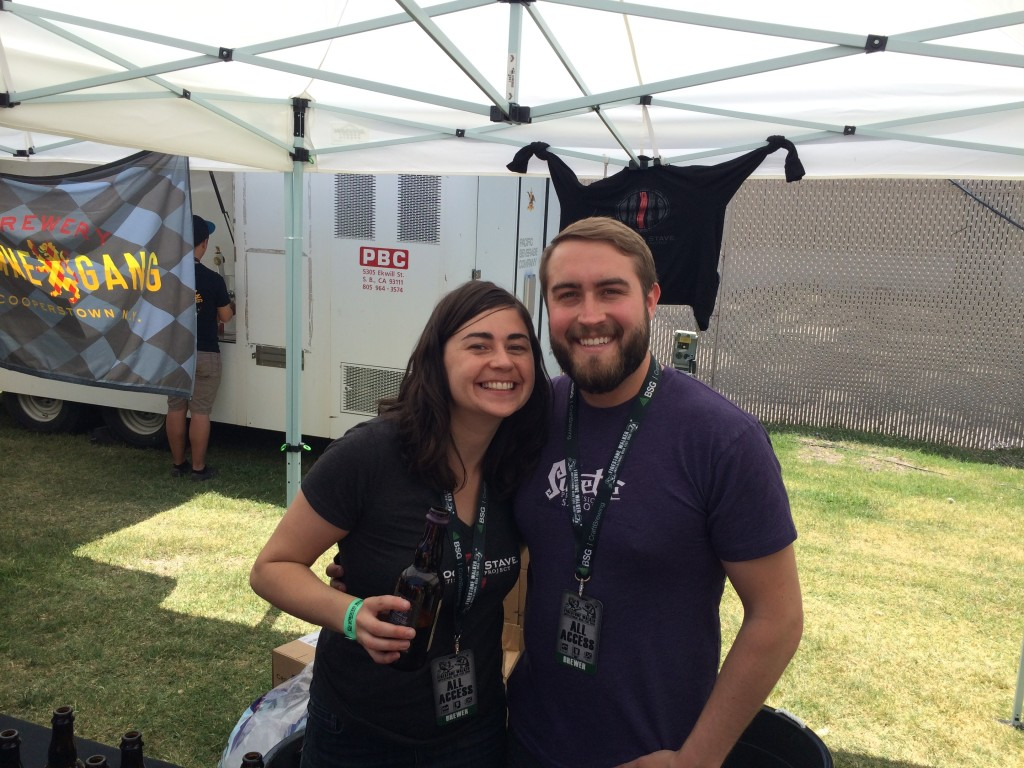 Yetta & Chad from Crooked Stave at 2014 Firestone Walker Invitational Beer Fest