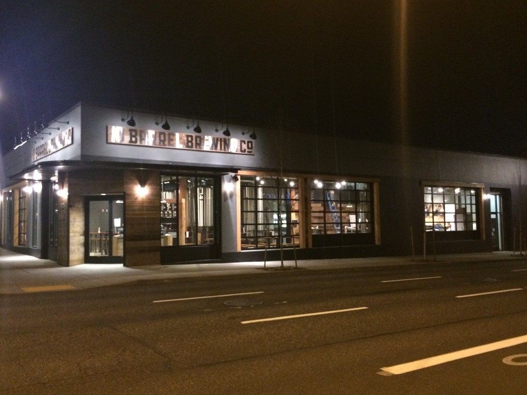 10 Barrel Brewing Portland Building at Night.