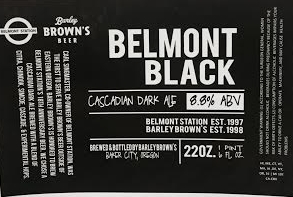 Belmont Station - Barley Browns Belmont Black CDA