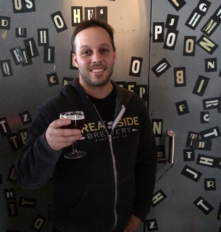 Ben Edmunds enjoying a beer at the Icelandic Beer Fest