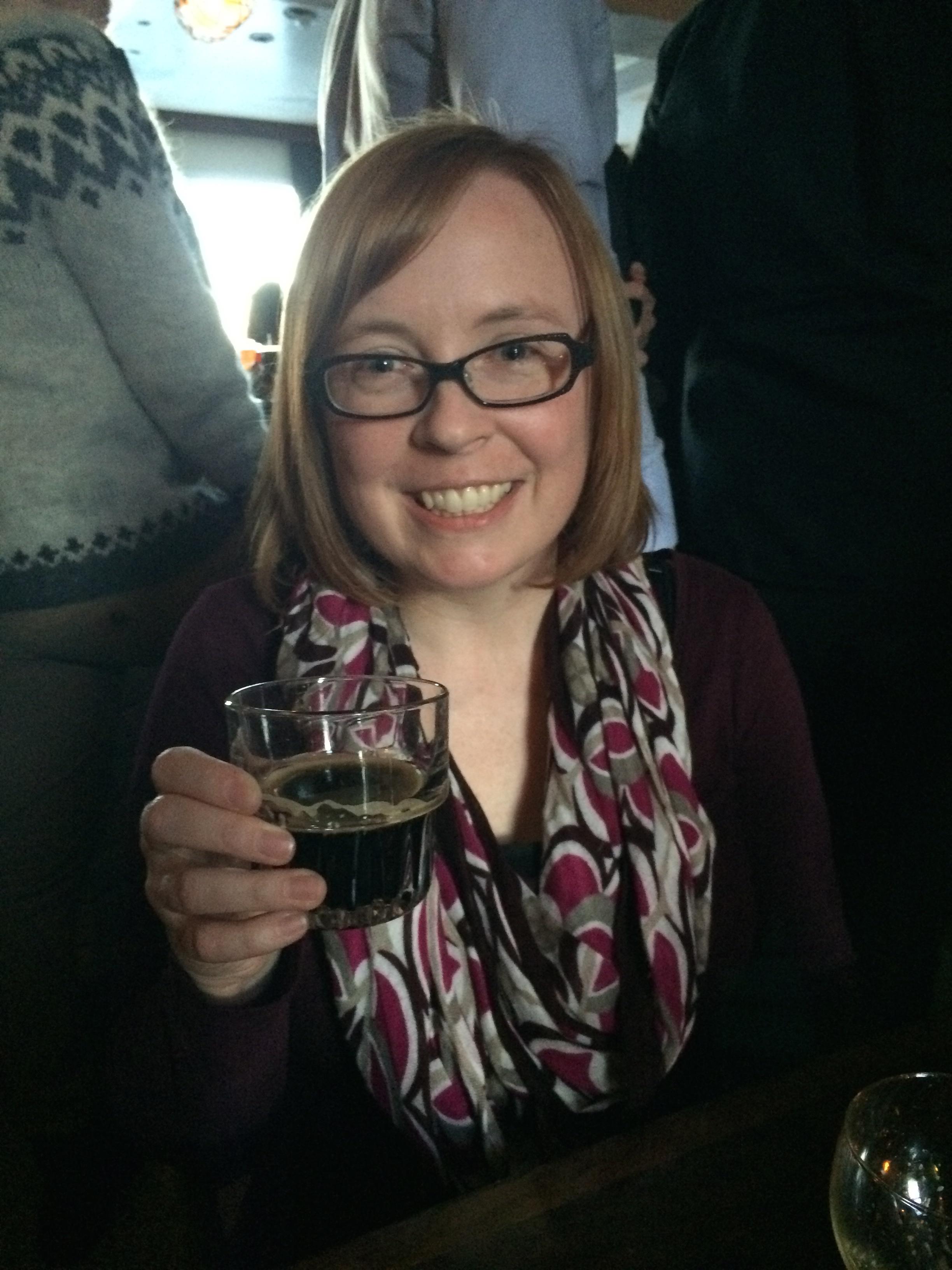 Cat Stelzer at the Icelandic Beer Fest