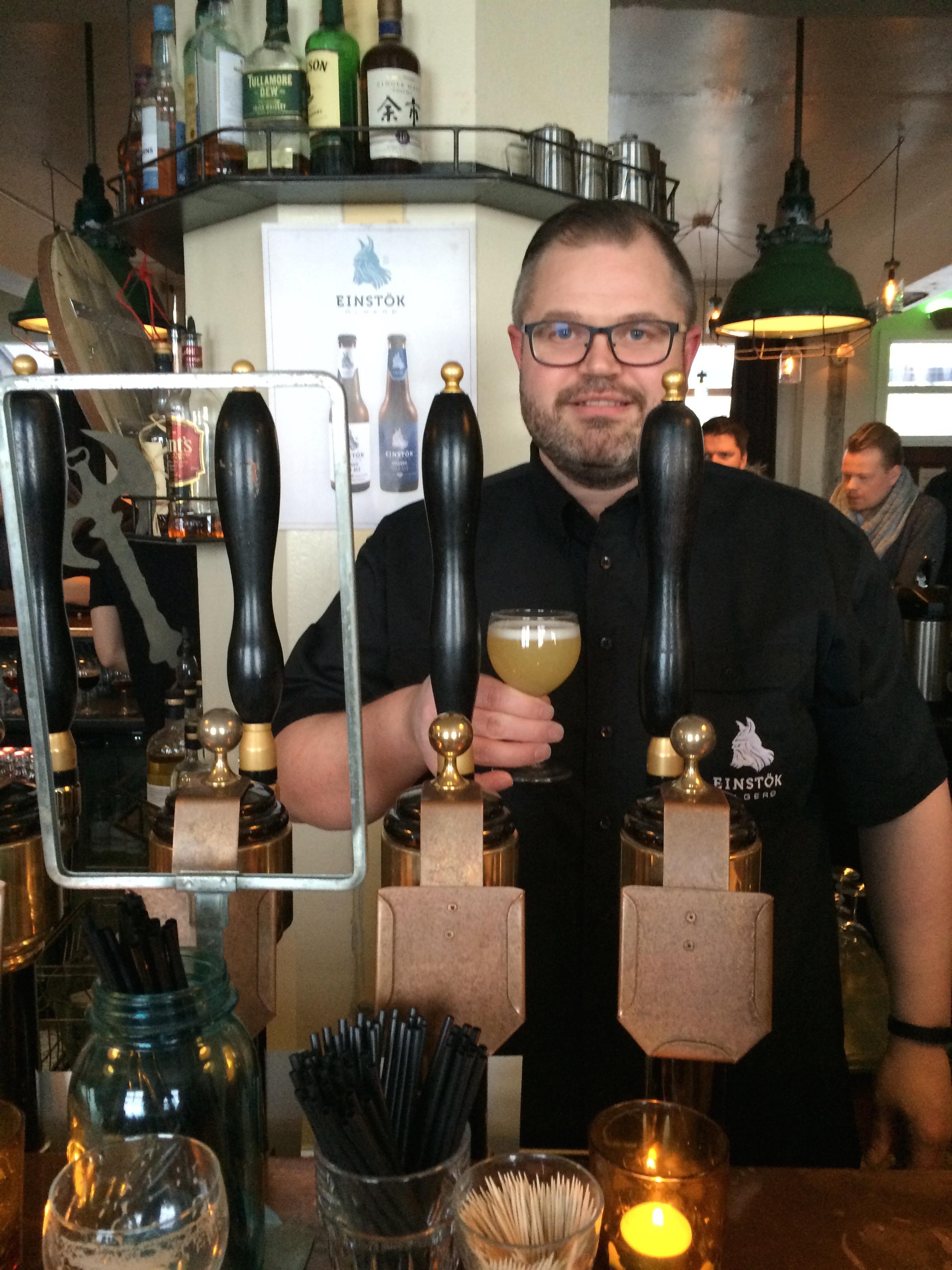 Einstok Brewery serving Icelandic White Ale at Icelandic Beer Fest