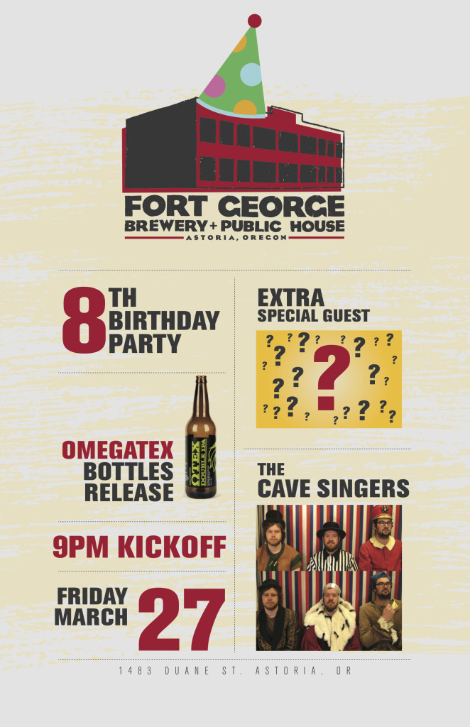 Fort George Brewery + Public House 8th Birthday Poster