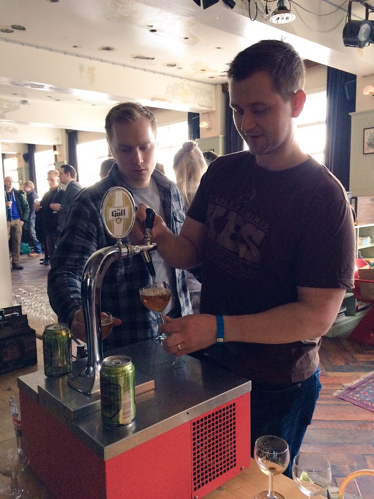 Founders Brewing pouring All Day IPA at Icelandic Beer Fest