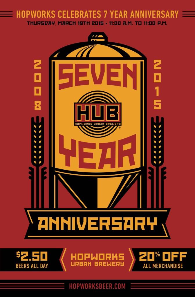 HUB Hopworks 7 Year Poster