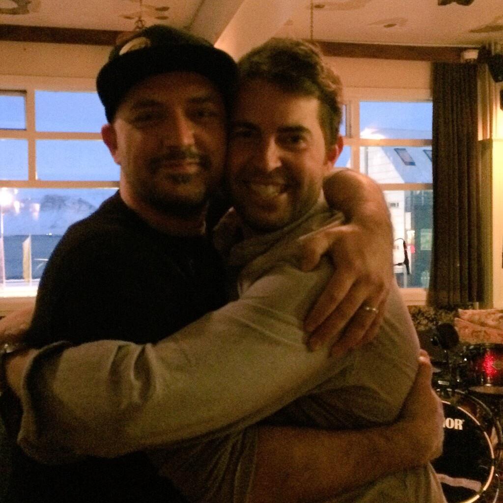 Hopworks Tom Bleigh and Breakside's Scott Lawrence at the Icelandic Beer Fest.