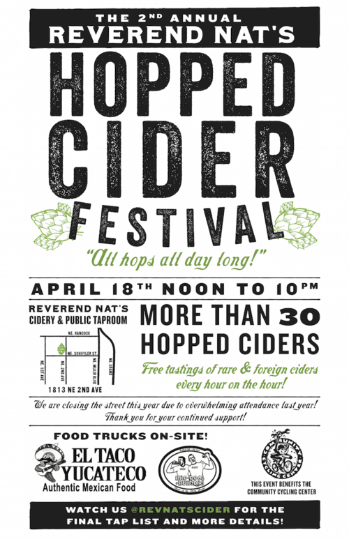 Reverend Nat's 2nd Annual Hopped Cider Fest