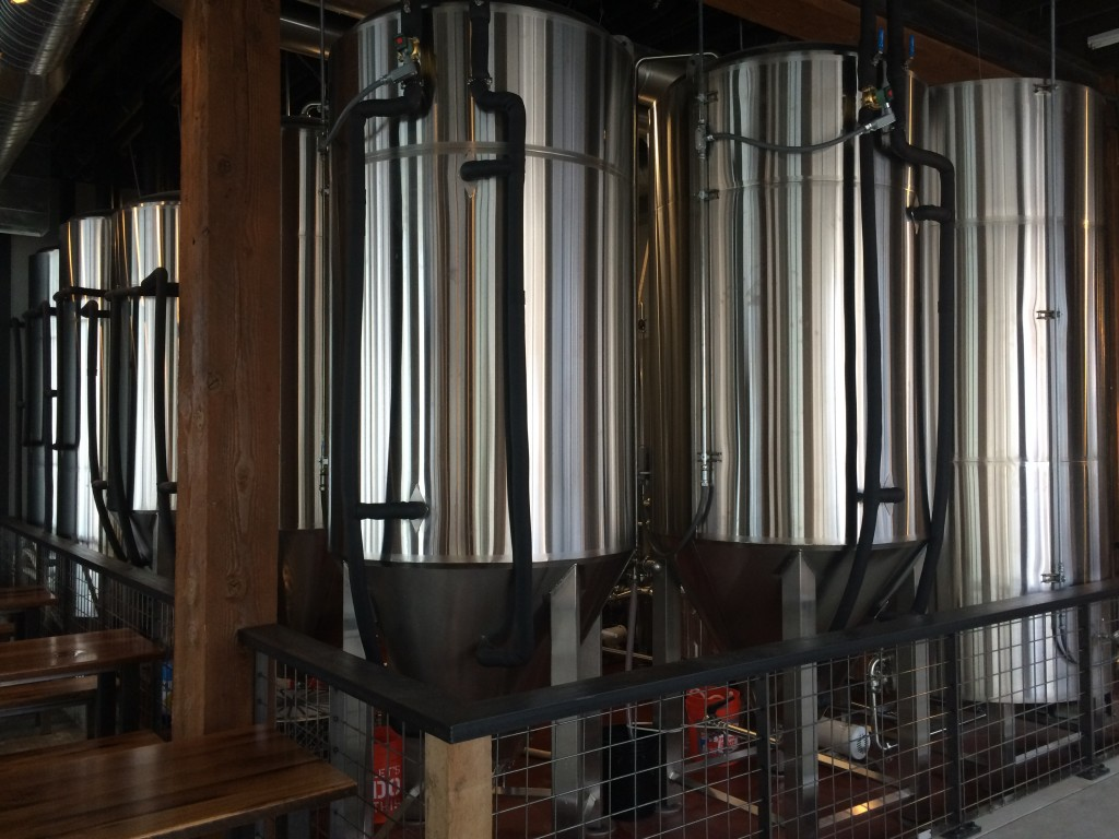 Shiny new 20 BBL Metalcraft Brewhouse at 10 Barrel Brewing Portland