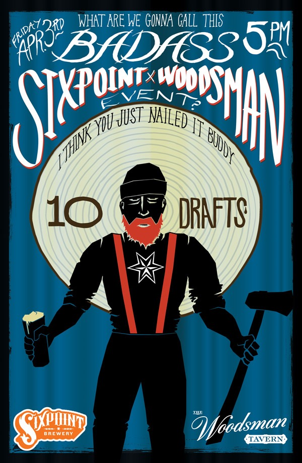Sixpoint Brewery at The Woodsman