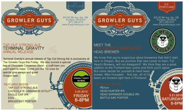 The Growler Guys Presents Terminal Gravity and Fat Head's