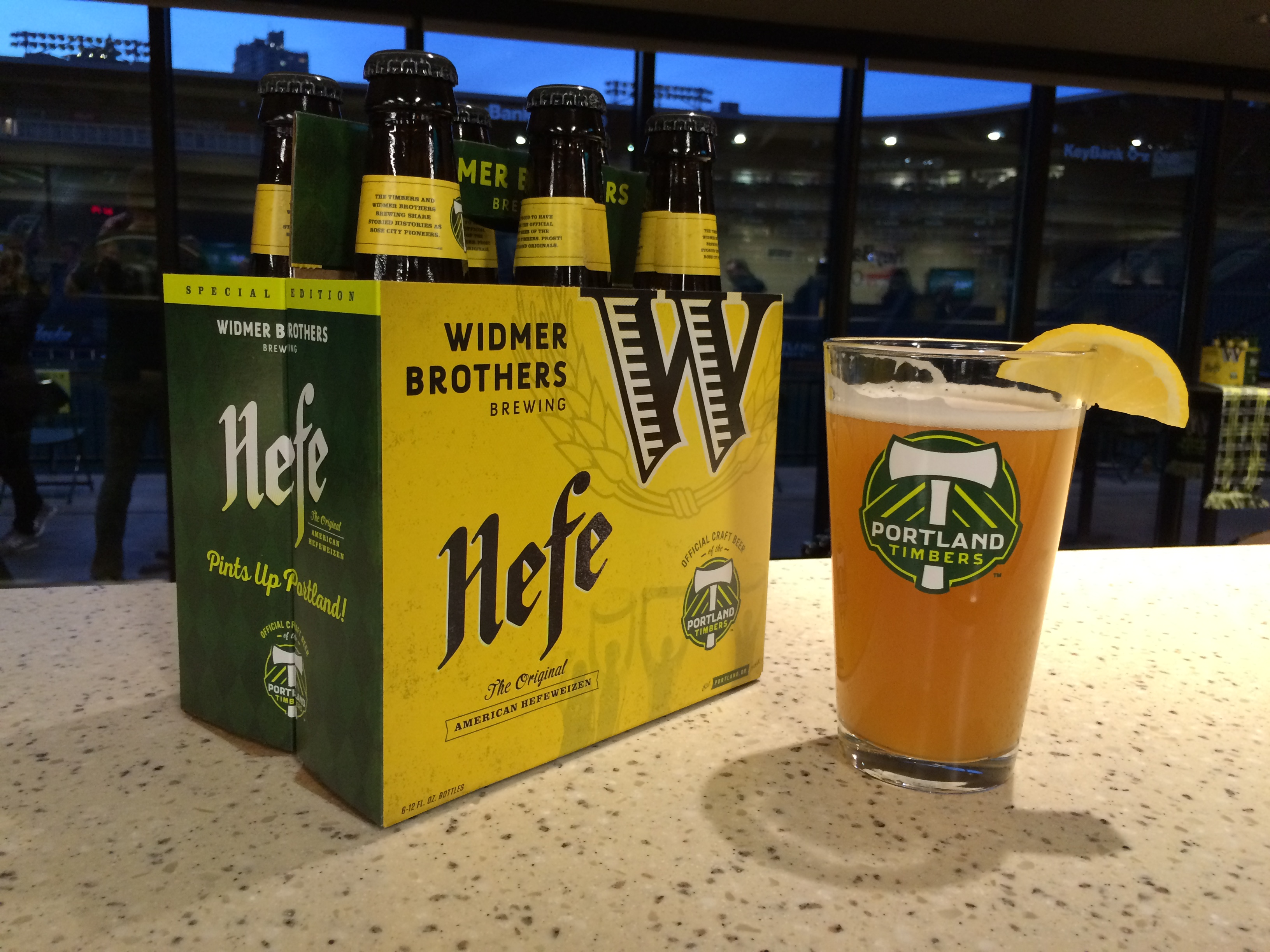 Widmer Brothers Brewing Portland Timbers Co Brand Hefeweizen Packaging