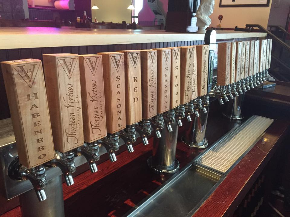 13 Virtues Brewing Co. Tap Tower