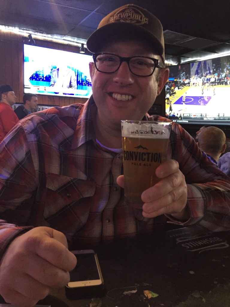 BREWPUBLIC lead writer and blogger D.J. Paul enjoys a BridgePort Conviction Pale Ale