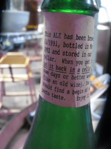 A rare bottle of 1991 French ale from Sprints' archives
