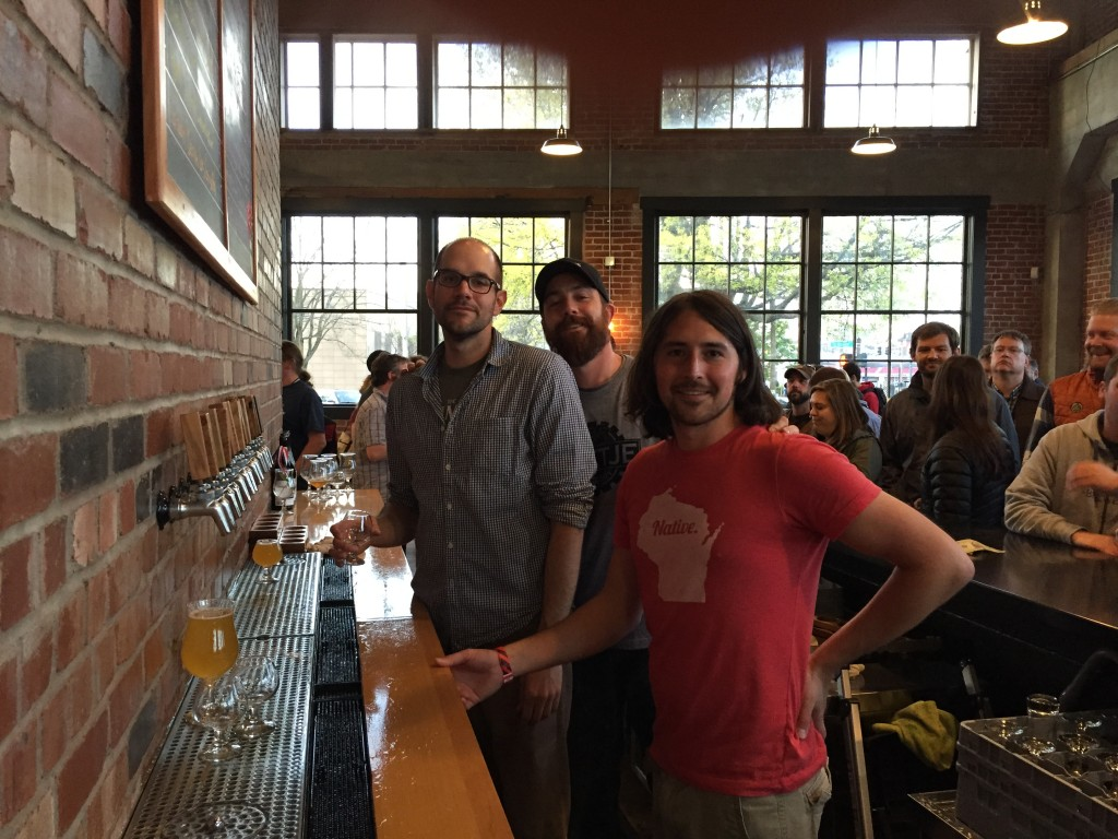Great staff of fellas from The Commons new brewery spot