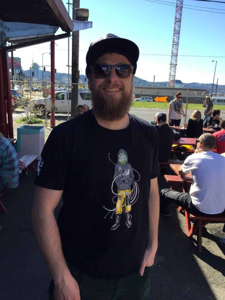 Melvin Brewing's Jeremy Tofte enjoys a nice day at the CBC in Portland, Oregon