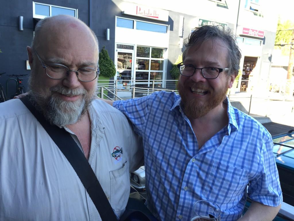 Oregonian Beer Writer John Foyston (left) with Steve Jones of Portland's Cheese Bar