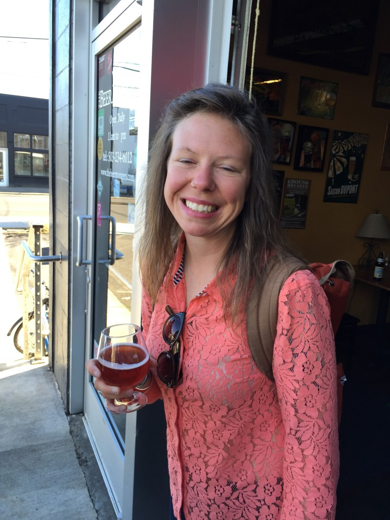 Beer Maven Rose Walterbach smiles for the camera