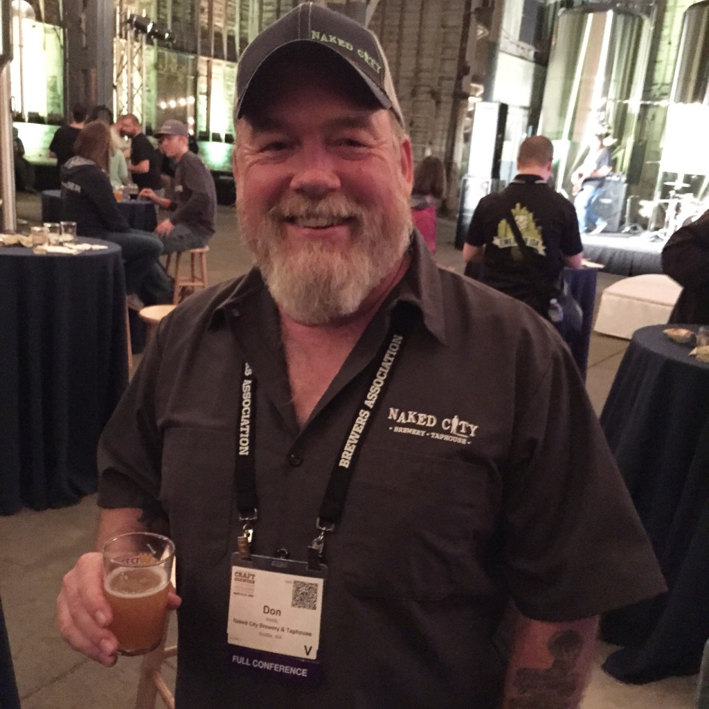 Owner and brewmaster Don Webb of Seattle's Naked City Brewhouse and Taproom
