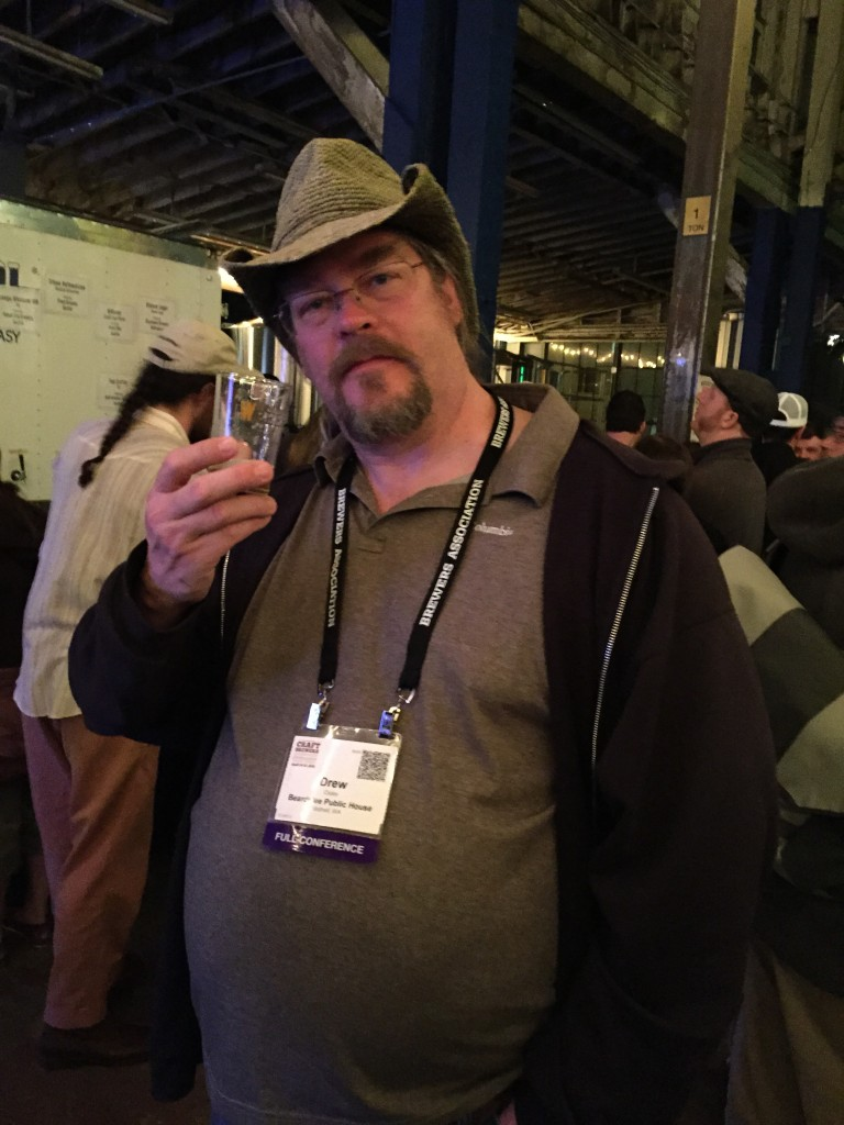 Seattle brewmaster Drew Cluley at CBC 2015's Washington Beer Night