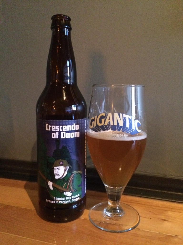 Crescendo of Doom Bottle at Gigantic Brewing