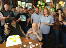 Fred Eckhardt with his 88th Birthday Cake at FredFest 2014