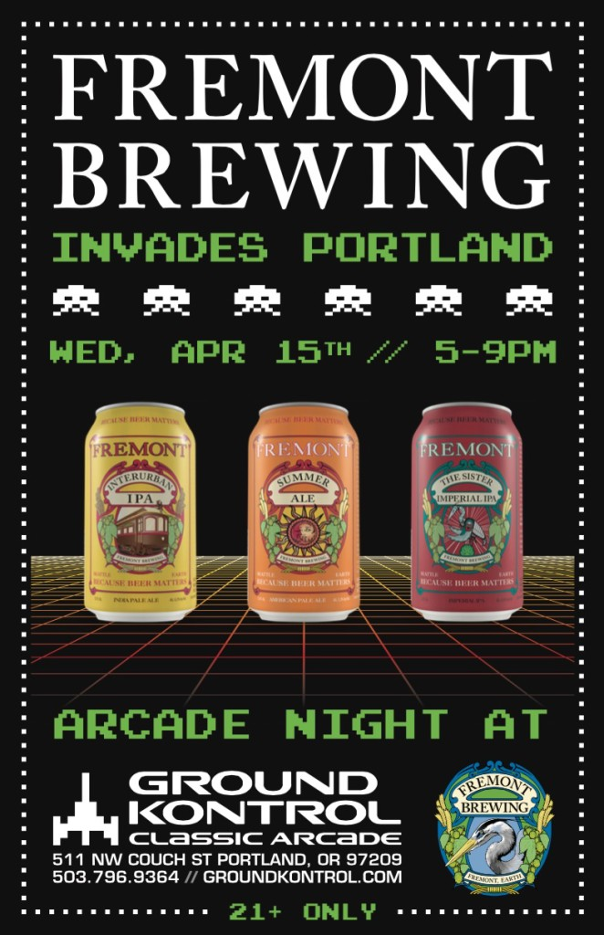 Freemont Brewing Invades Portland at Ground Kontrol