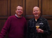 Kurt Widmer (left) & Rob Widmer at Multnomah Whiskey Library