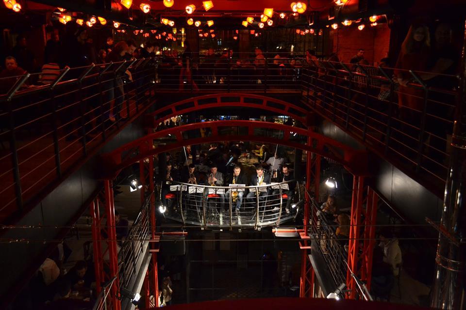Live music at multiteared Pravda Beer Theatre