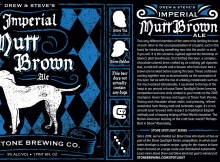 Stone Spotlight Series Imperial Mutt Brown Ale Label