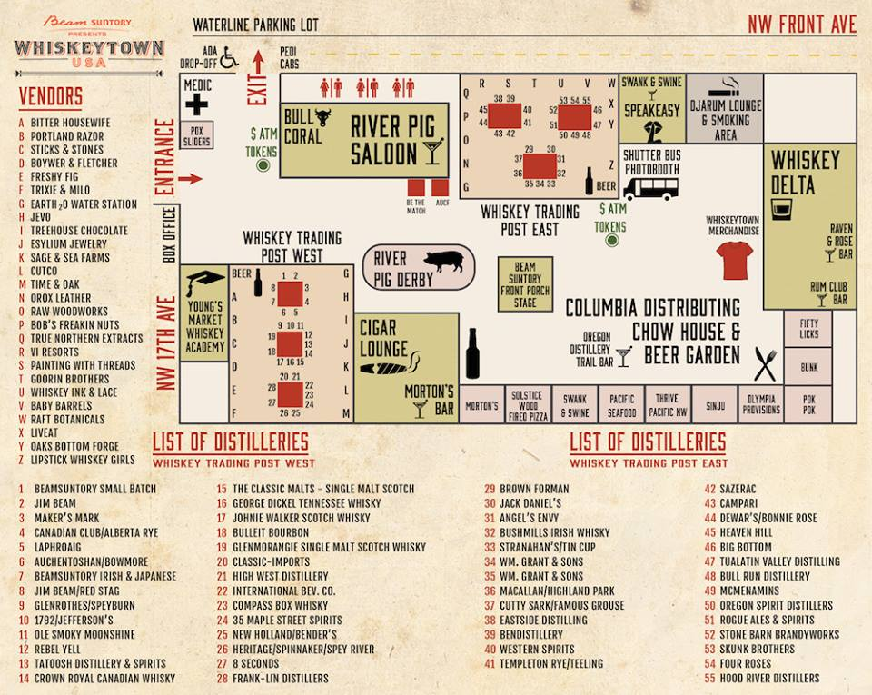 WhiskeyTown USA 2015 Map