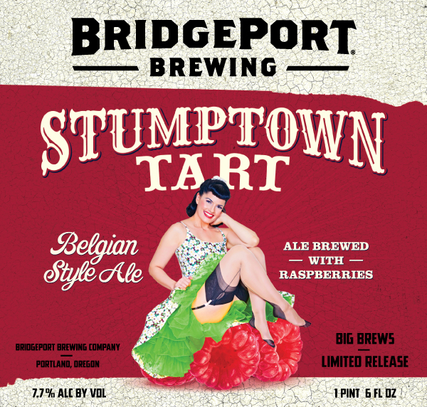 2015 BridgePort Brewing Stumptown Tart Belgian Style Ale with Raspberries Label