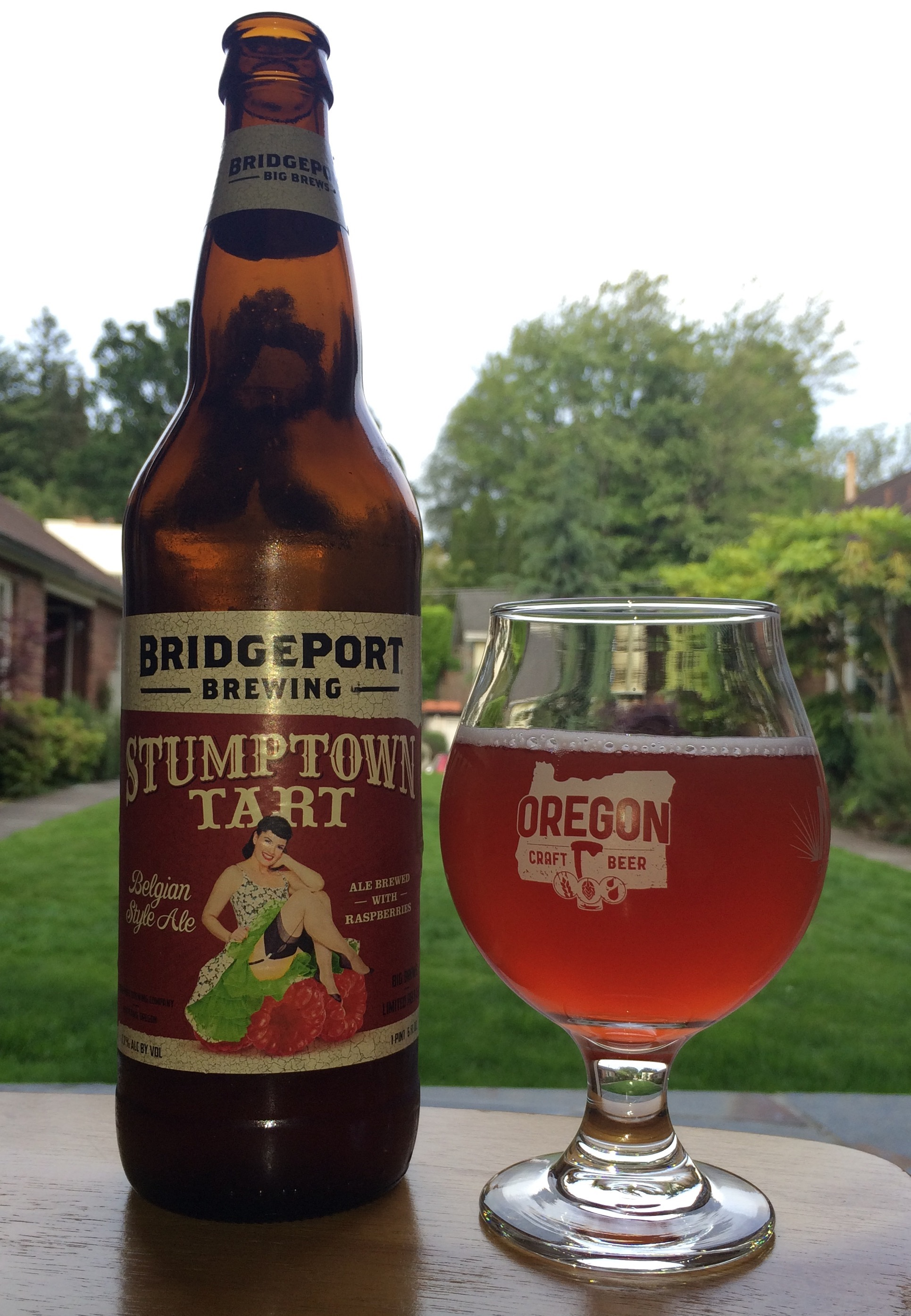 2015 BridgePort Brewing Stumptown Tart Belgian Style Ale with Raspberries