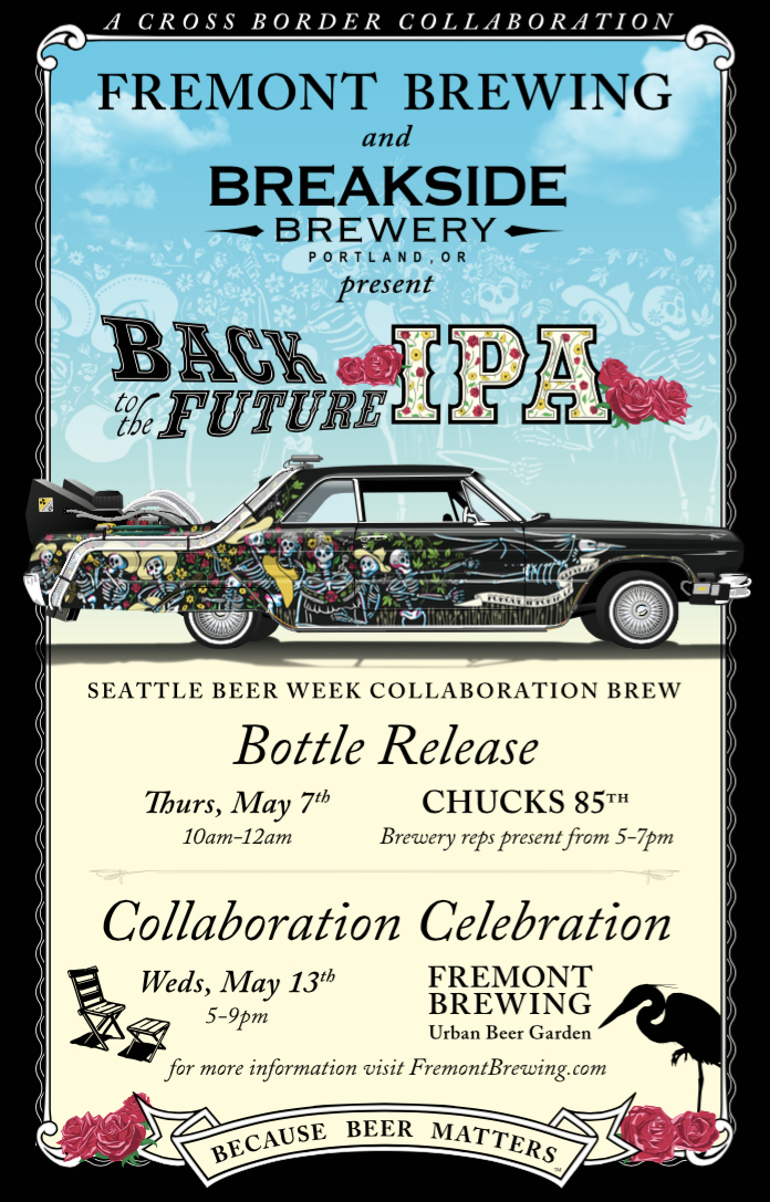 Back to the Future IPA by Fremont Brewing and Breakside Brewing Flyer