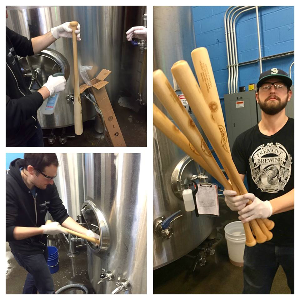 Brewing Homefront IPA at Fremont Brewing (photo collage from Fremont Brewing Facebook Page)