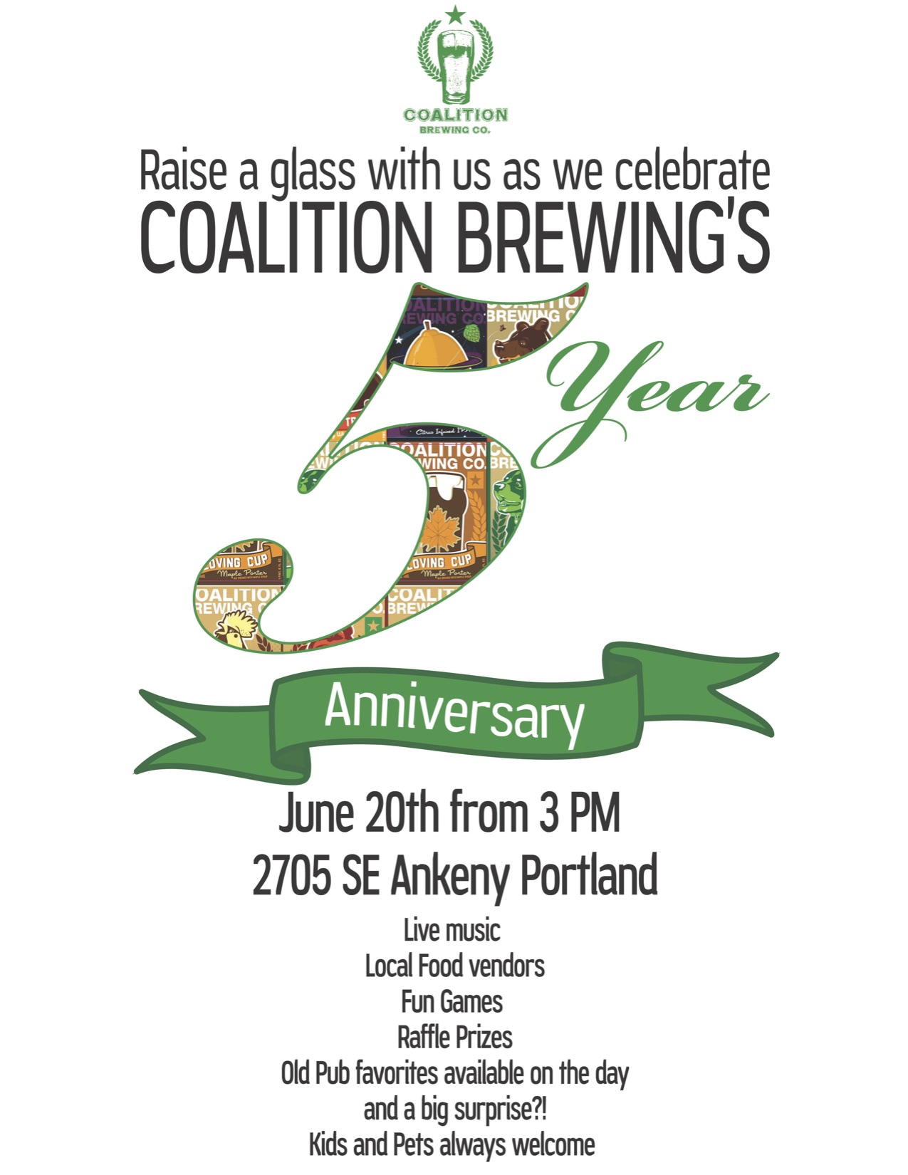 Coalition Brewing's 5th Anniversary