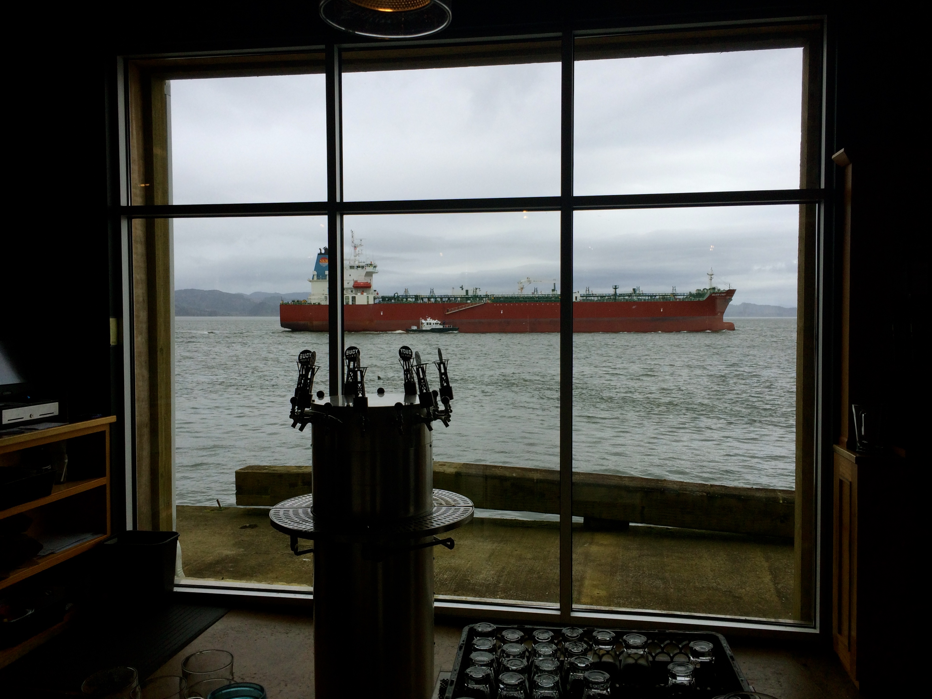 Columbia River view at Buoy Beer Co
