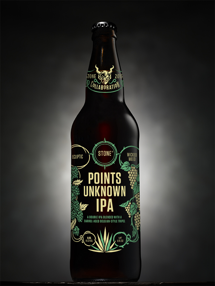 Ecliptic:Wicked Weed:Stone Points Unknown IPA Bottle