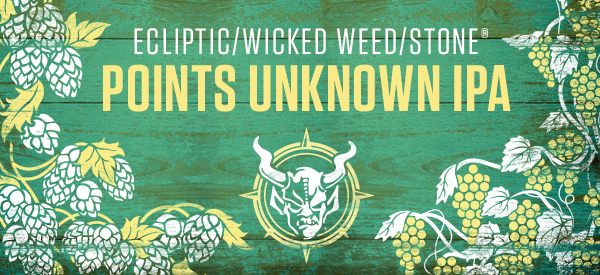 Ecliptic:Wicked Weed:Stone Points Unknown IPA