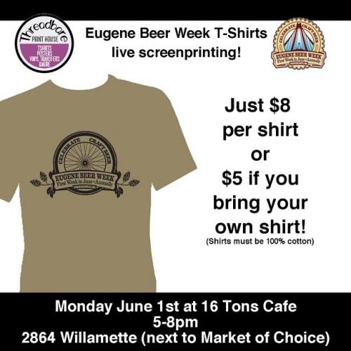 Eugene Beer Week T-Shirt Sceenprinting