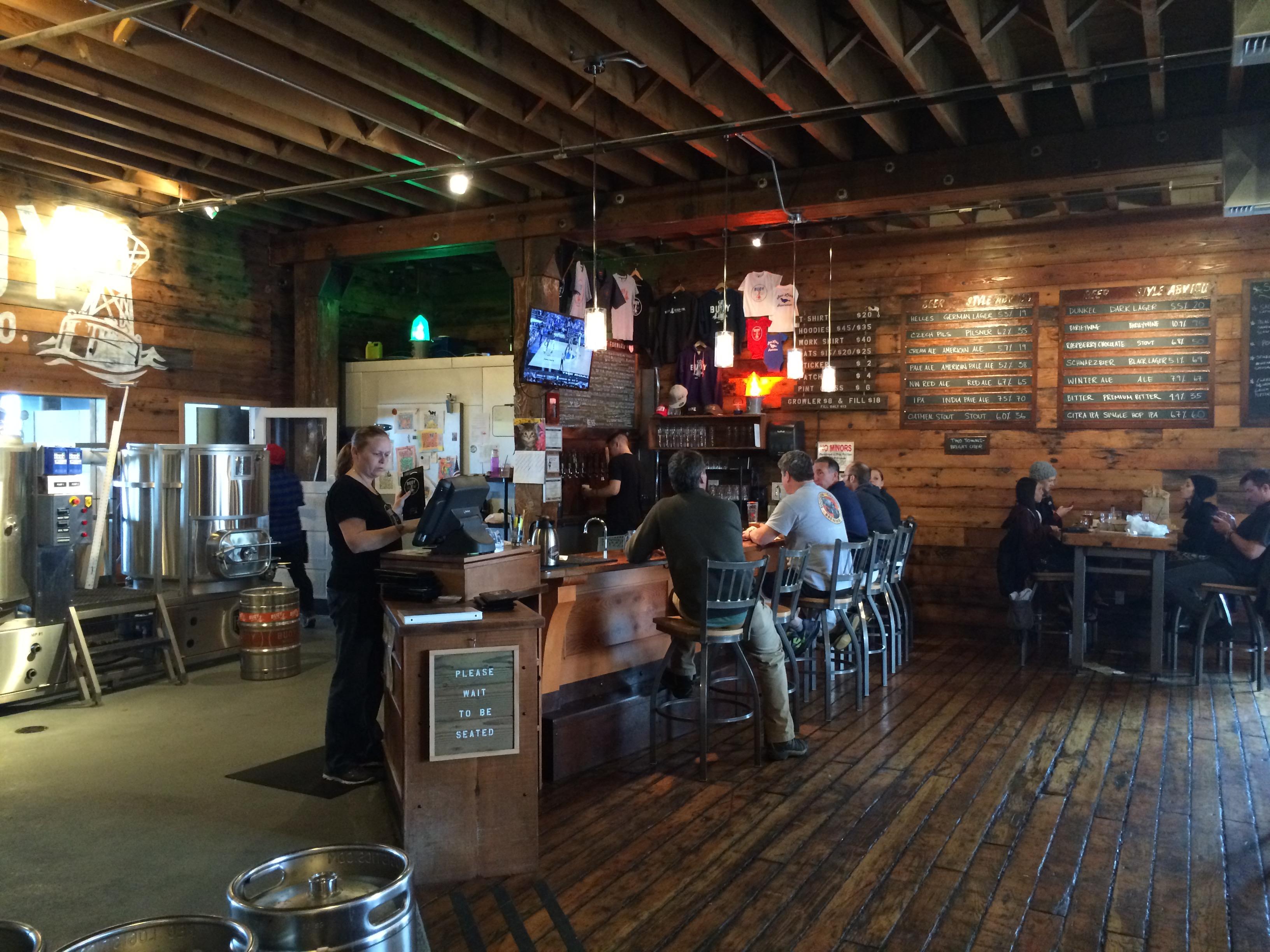 Front Bar inside Buoy Beer Co