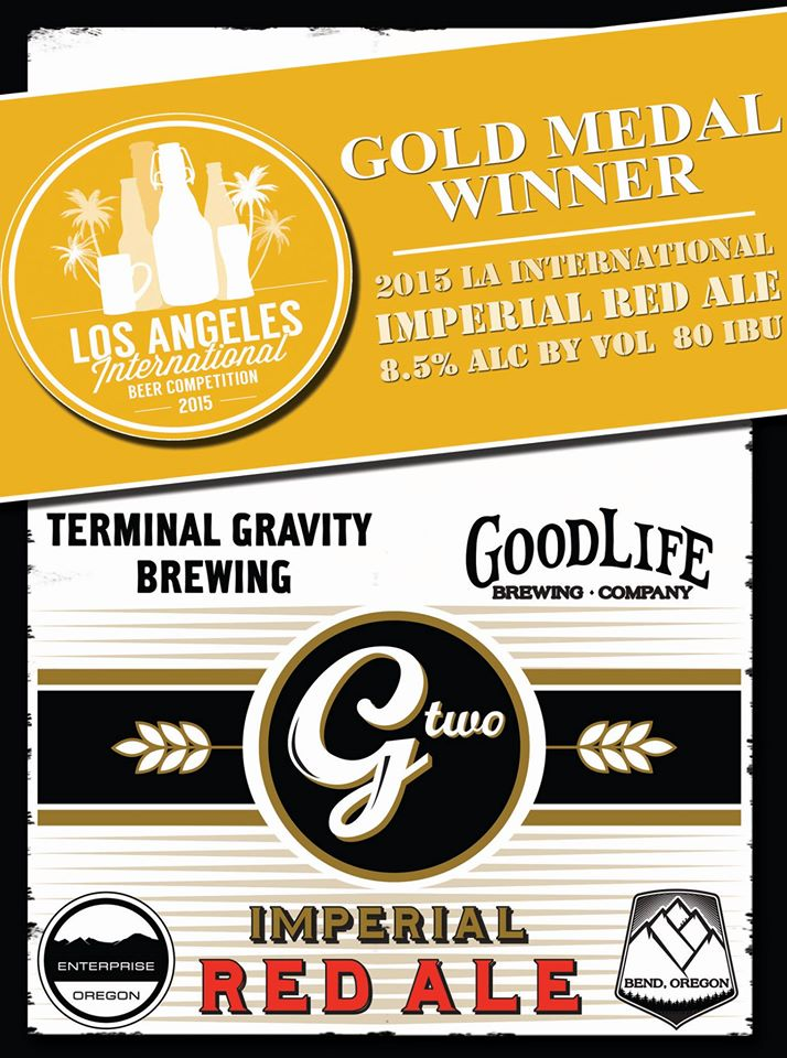 GoodLife & Terminal Gravity G-Two Imperial Red Ale winning Gold Medal at the LA International Beer Competition