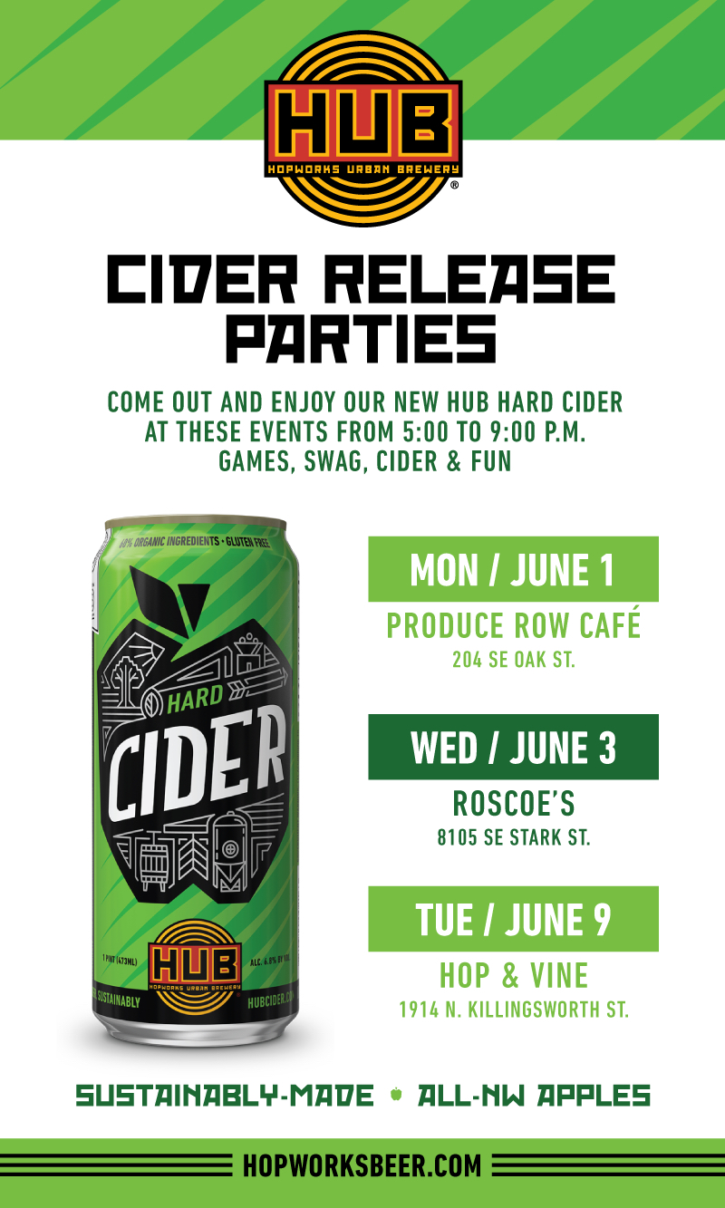 HUB Hard Cider Release Parties