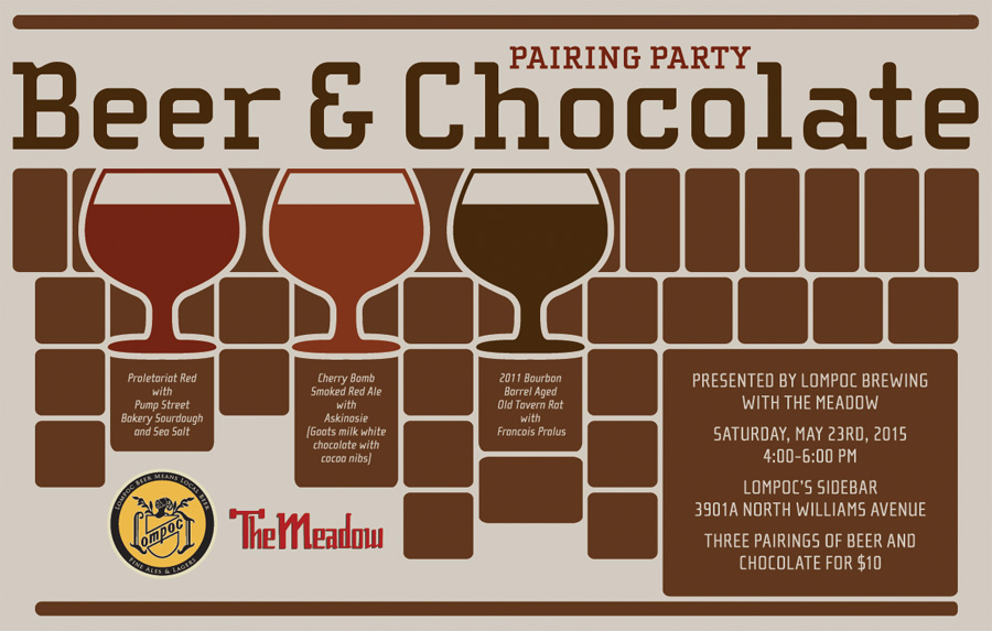 Lompoc Beer ‎Chocolate & Beer Pairing with The Meadow