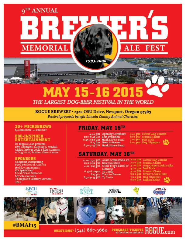 Rogue's 9th Annual Brewer's Memorial Ale Festival Flyer