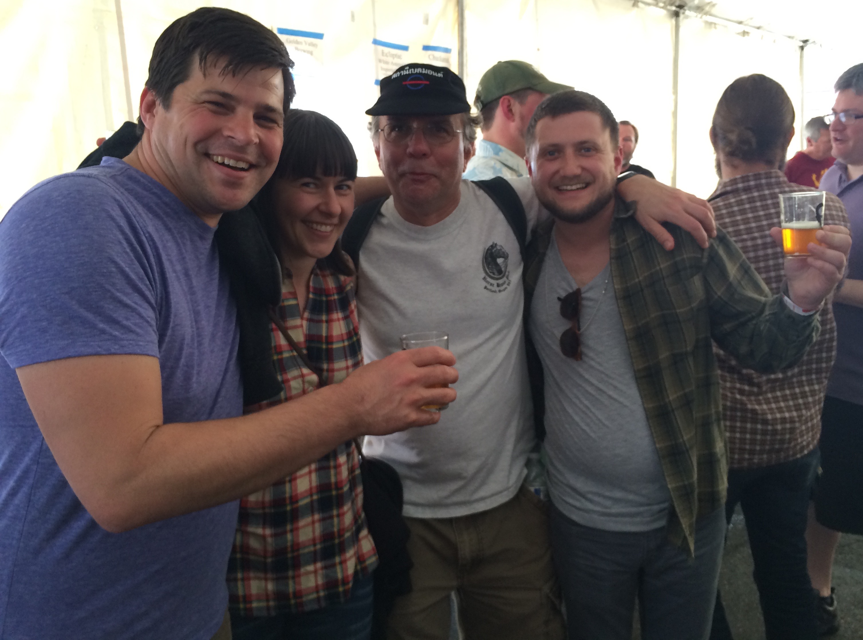 The Bailey's Taproom Crew and Carl Singmaster of Belmont Station at 2015 FredFest.