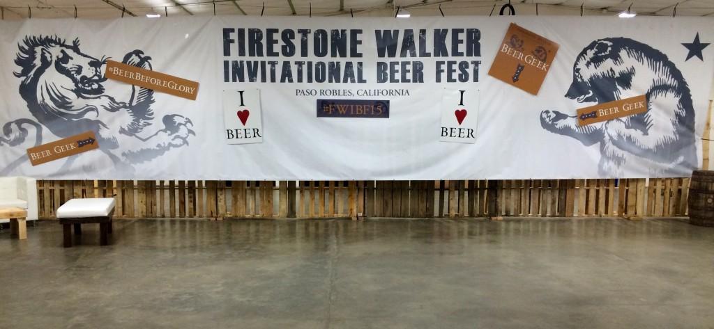 2015 Firestone Walker Invitational Beer Fest Banner