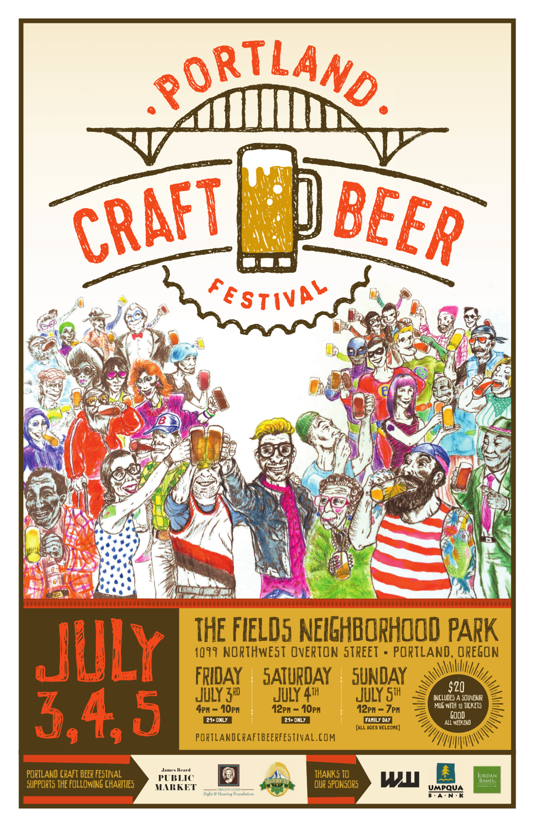 2015 Portland Craft Beer Festival Poster