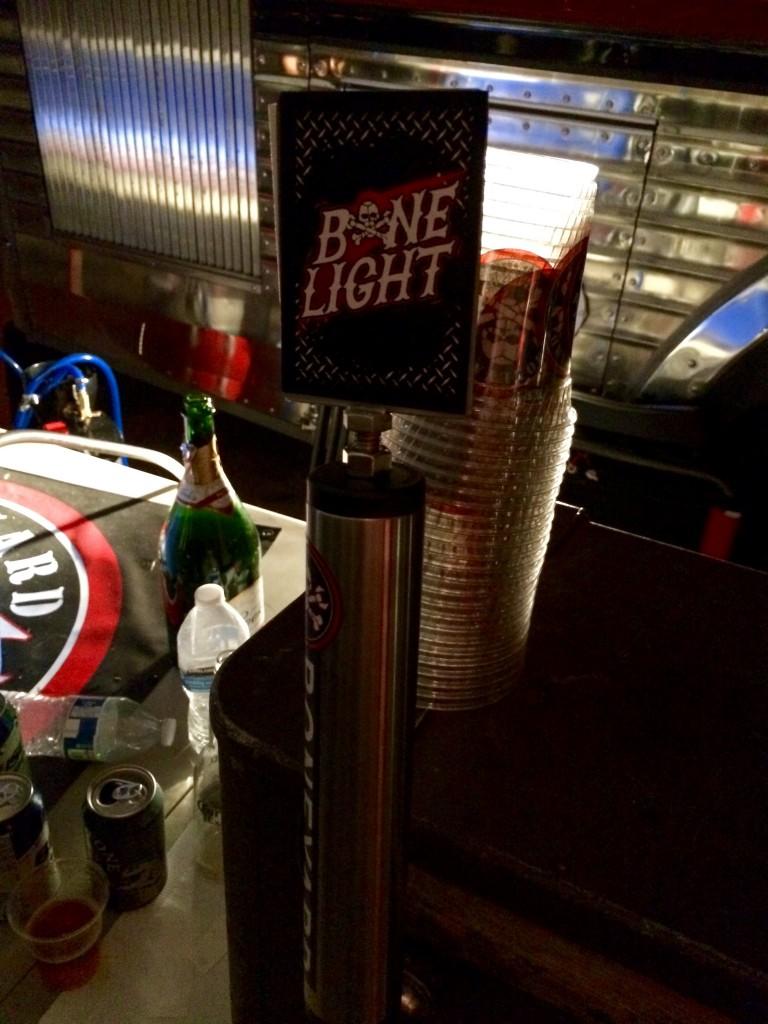 Bone Light pouring at 2015 Firestone Walker Invitational Beer Fest Brewers Camp
