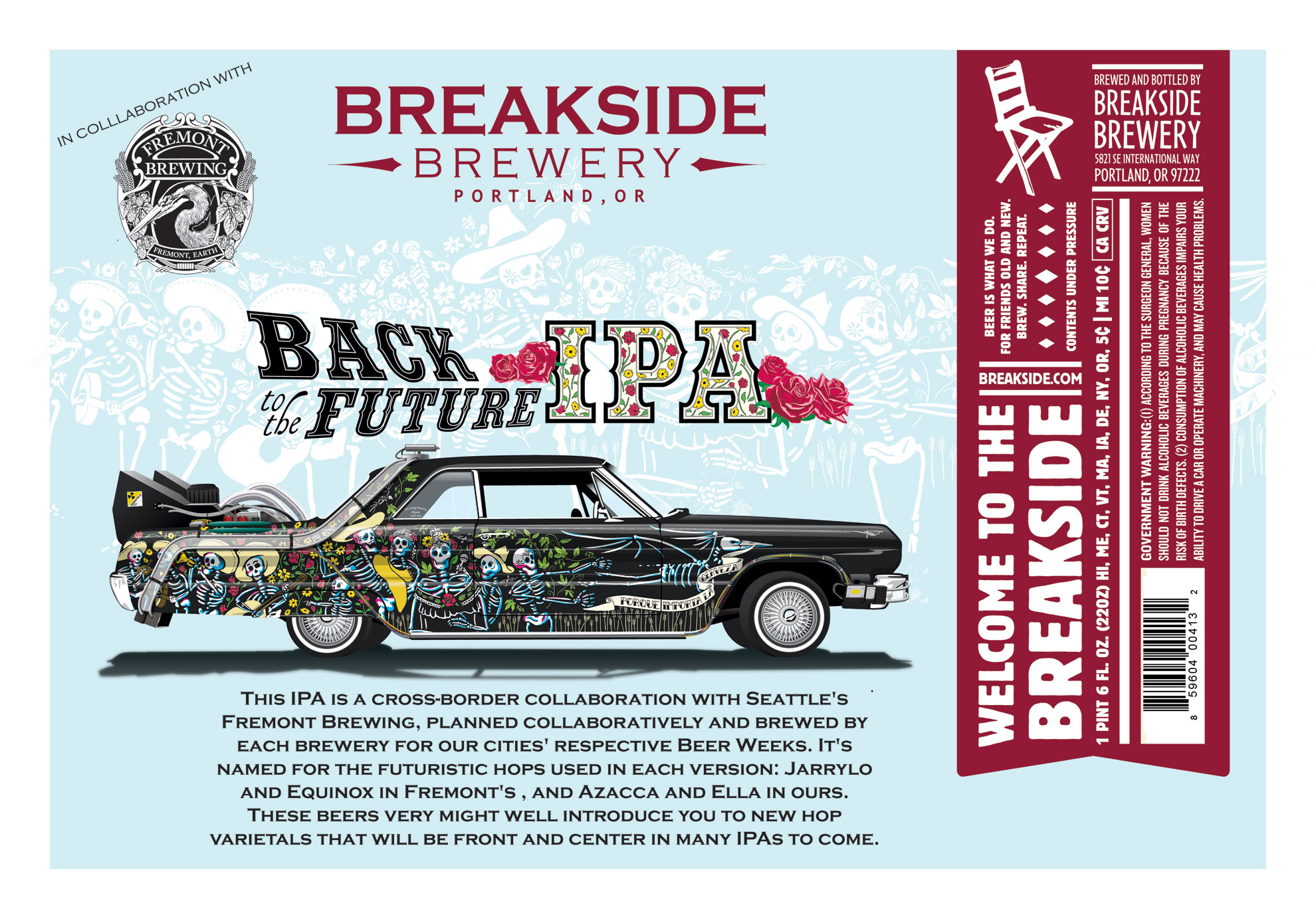 Breakside Fremont Back to the Future IPA Label
